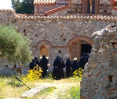 Nuns going into a church (steven_and_haley_bach) Tags: byzantine mystras sixthday mistras greecevacation byzantineruins