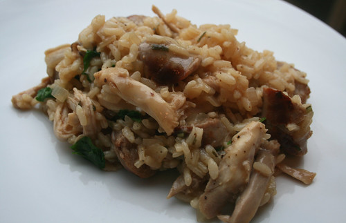Sausage and Chicken Risotto