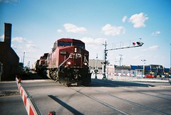 Southbound Canadian Pacific transfer train crossing Archer Avenue. Chicago Illinois. June 2008.