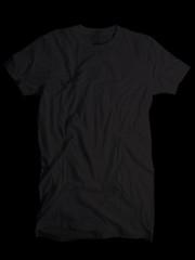 Wrinkled Front- Black (ir0cko) Tags: black male threadless wrinkled onblack blanktee