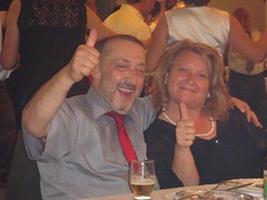 At Zana and Korab's wedding - Agim and Drita (his brother Rafet's multi-talented wife) (allisonrudi) Tags: wedding kosova zana korabs