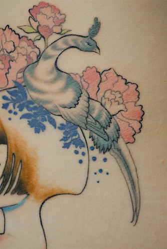 Audrey Kawasaki tattoo--bird close-up