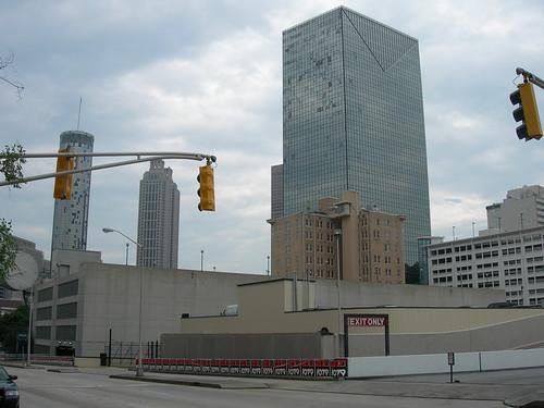 Eerily quiet Atlanta