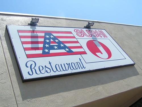 suspicious sushi sign
