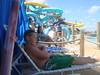 Bradley Lounging Christian in Cabana, Hurricane Harbor