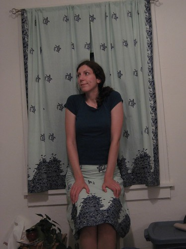 skirt and curtains
