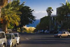 Looking down the street (michaelgrohe) Tags: ocean vacation costa holiday pool island hotel kanaren canarias atlantic tenerife teneriffa riu vulkan inseln adeje