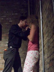 Rehearsal, July 2008: Learned (tearfulassassin) Tags: wickerpark chicago theater play theatre performance performingarts police kidnapping artists reality wanted premiere drama bucktown violent detectives windycity marymarshall matthewtucker vincenttruman gorillatango shelleynixon caitlinemmons