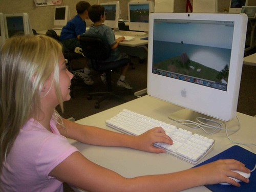 Kids at Greenbush on the OpenSim GreenbushGrid Virtual World