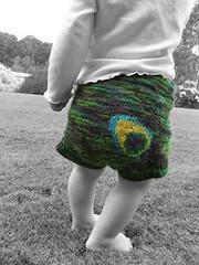 peacockbumbw (Quinka) Tags: bum baa handknits