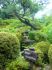 Yoshikien Garden, Nara - Small lantern