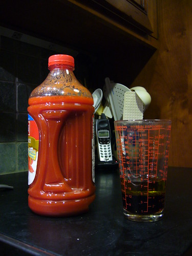 Step 1:  drink a glass of tomato juice