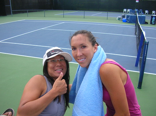 Isabelle Chrun and Jelena Jankovic