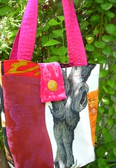 Tree Trunk Bag (Snappy Shop) Tags: dog tree cooking baking clothing dress handmade oneofakind housewares housework cotton purse etsy handbag tote tapestry madeintheusa snappyshop