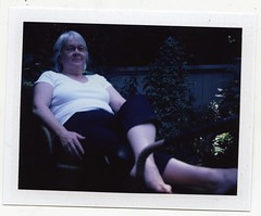 Mom, in Vancouver (grahamcase) Tags: vancouver mom polaroid landcamera fuji100c polaroidautomatic103 barbaracase