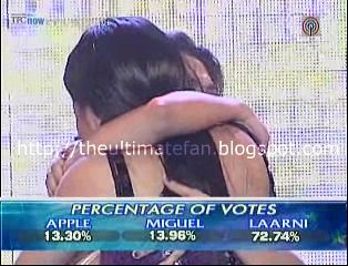 percentage of votes 8th gala night