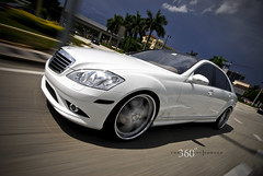 360 Forged Mercedes S550 on Straight 5ive (360 Forged) Tags: white mercedes nikon florida