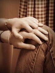 Holding Hands (SoniaBonia) Tags: boy girl sepia hands closeness
