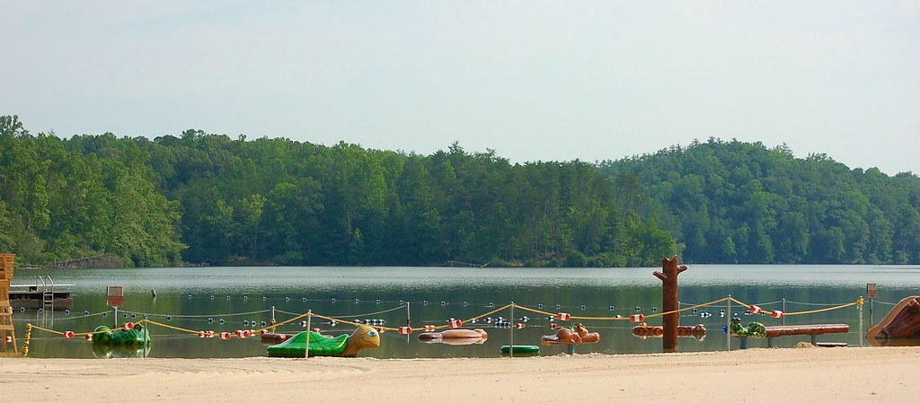 Look at the nice beach and toys for the little ones at Fairystone State Park near Stuart, Virginia
