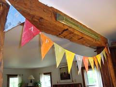 newspaper bunting (mayalu) Tags: newspaper child crafts banner recycle celebrate myhome bunting repurpose pennants upcycle