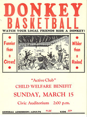Donkey basketball poster, 1959 - by Seattle Municipal Archives