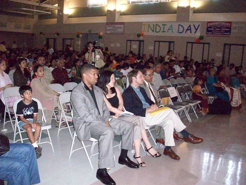 Kevin attends India Day Celebration with D.C. Public Schools Chancellor Michelle Rhee 8.16.08