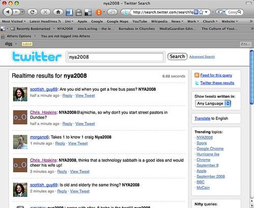 NYA2008 tweets