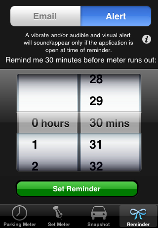 iPhone Parking Meter Screen Shots