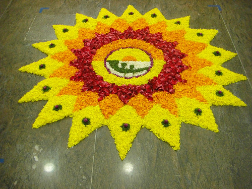 Calsoft Onam  Pookalam 2008 - 2nd Prize winner by arulmurugan77.