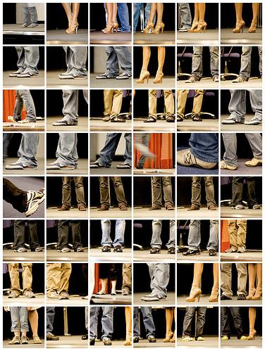 mosaico di scarpe