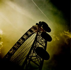 the eye into my soul (microabi) Tags: uk london eye wheel thames river holga south bank capsules