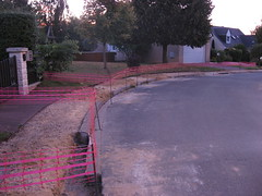 Neighboring residence - sidewalk work without fibre