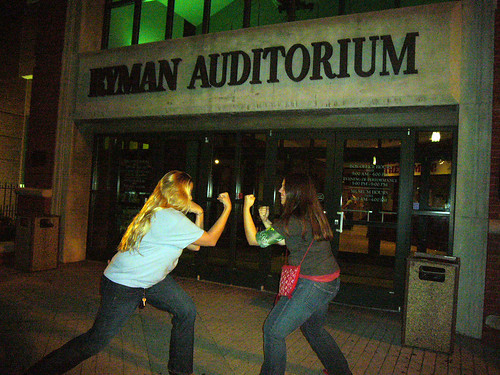 Duking it out at the Ryman Auditorium