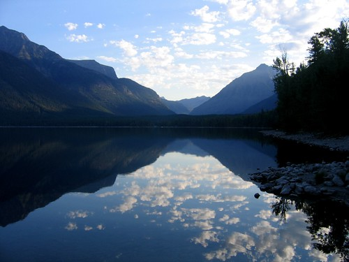 Morning Sun on Lake McDonald