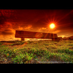 Sit down and enjoy it (Lewosky) Tags: sun grass corua flare cokin arteixo aplusphoto platinumheartaward oseiro lewosky