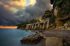 Cap-Ferrat - France (Aur from Paris) Tags: longexposure sunset sea sky mer seascape france beach skyline photoshop nice raw ctedazur paca shore plage lux dri luxe nissa frenchriviera alpesmaritimes mediteranean saintjeancapferrat dynamicrangeincrease nd400 rade villefranchesurmer canoneos5d crique mditrane aur