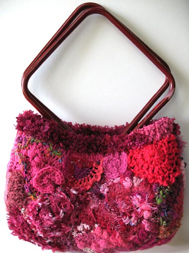 Dark Pink Freeform Handbag - side 1
