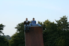 Tom Kirkman and Tom Read on the Quarter Pipe
