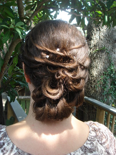 trial run of wedding hair
