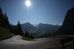 Driving up to the Timmlsjoch - the border between Austria and It