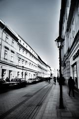 Street (B&W HDR)   (Kraków) (xGidsonx) Tags: street white black nikon krakow hdr krakov ulica krakoff