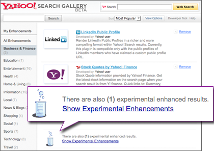 SearchMonkey Experiments