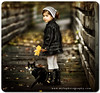(mylaphotography) Tags: wood bridge autumn black art fall halloween scarf cat dark toddler boots jeans mylaphotography processedinlrps