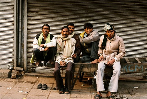 Men on Street, Old Delhi