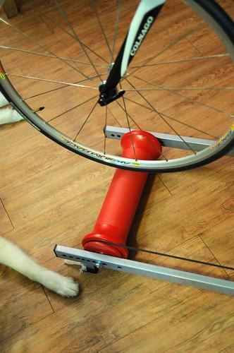 前輪與前滾筒位置
