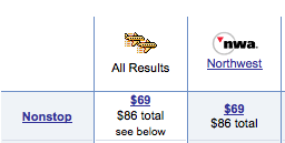 NWA's New $69 Fare