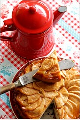 apple tart (C.Mariani) Tags: november autumn red food apple coffee pie table afternoon sunday rustic knife slice tart baked coffeepot enamel mycreation mywinners specialpicture