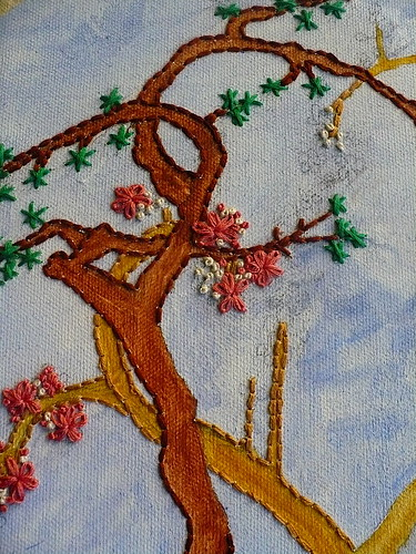 Canvas Painting Embroidery IN PROGRESS