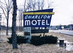 Charlton Motel neon sign, Charlton, Massachusetts (63vwdriver) Tags: abandoned sign us neon massachusetts motel route 20 charlton