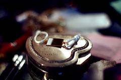 <3 (Weda3eah*) Tags: white 3 by gold heart thing 50mm14 bracelet p soo qatar alot pokeh weda3eah 3afesa